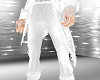 white w wed pant