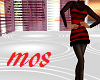 Black&Red Woolen Dress