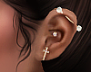 ( left ear piercings )