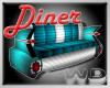 (W) Diner Car Sofa