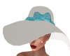 Rosabell Hat-White/Blue