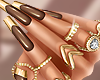 Chic Nails Brown Gold