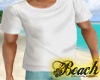 |D| Beach White T