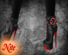 red slick high boots