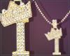 Gold Chain I Letter Fem