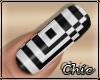 Nails black white
