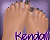 *KT* Black Nails Feet