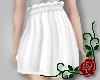 High Waisted Skirt White