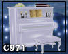 [C971] White Baroq piano