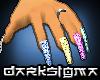 -DS- Femme Multi Nails