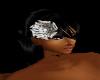silver flower hairband