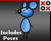 Tiny Blue Cartoon Mouse