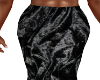 Bl-Blk Crushed Vel Skirt