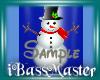 !BM! Blue Snowman Nails