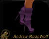 High Heel Boot Purple