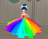 Girls RainBow Gown