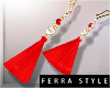 ~F~Summer Earrings Red