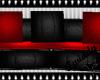 Dark Rouge Circular Sofa