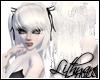 White Goth hair