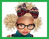 Kids 3 Blonde Afro Puffs