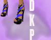 elektric blue heels