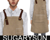 /su/ SUEDE APRON BROWN