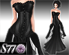 [S77]Black Layer Gown