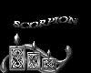 sticker scorpion argent