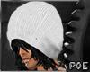 !P Black White cap