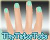 Perfect Blue Nails Short