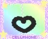 black heart earrings ❤