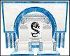 White Blue Dragon Throne