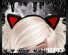 |H Red Kitty Ears