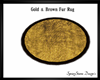 Gold & Brown Fur Rug Ova