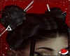 に- Bun Hair Black