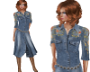 TF* Cowgirl Denim Dress