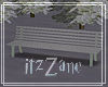 White Winter Bench