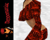 Sharona Top/Shorts RED