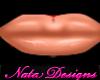 peach pouty lipstick