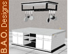 B&W Kitchen Island