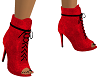 Red/Black Suede Boots
