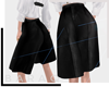 [bq] Half leather pants