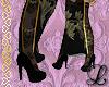 Asian Crane Boots Black