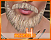 ! Blonde Beard + moustac