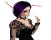 Black Purple Hair