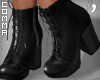 , Black Laced Boots