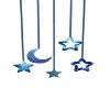 hanging stars/moon-blue