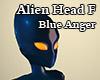 Alien Head F Blue Anger