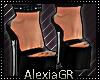[A] Sarie Black Heels