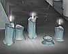 Melted Winter Candles